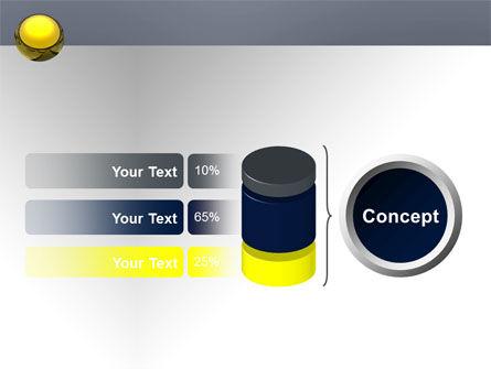 Yellow Ball PowerPoint Template Slide 11