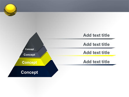 Yellow Ball PowerPoint Template Slide 12