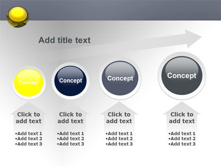 Yellow Ball PowerPoint Template Slide 13