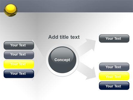 Yellow Ball PowerPoint Template Slide 14