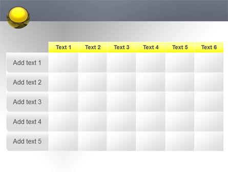 Yellow Ball PowerPoint Template Slide 15