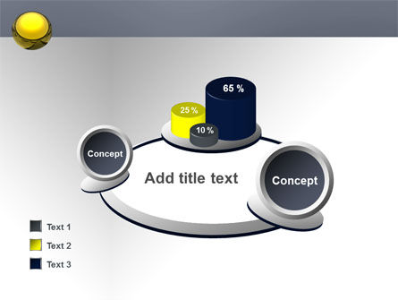 Yellow Ball PowerPoint Template Slide 16