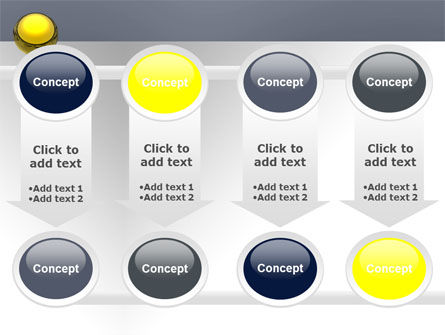 Yellow Ball PowerPoint Template Slide 18