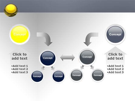 Yellow Ball PowerPoint Template Slide 19