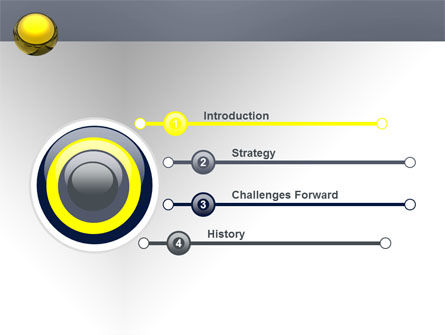 Yellow Ball PowerPoint Template Slide 3