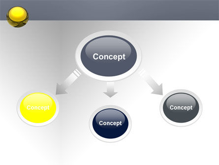 Yellow Ball PowerPoint Template Slide 4