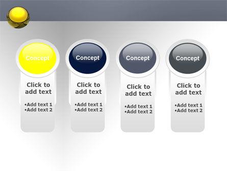 Yellow Ball PowerPoint Template Slide 5