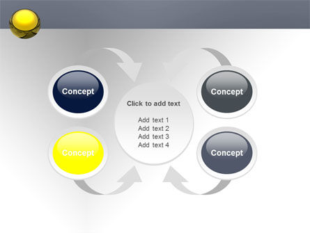 Yellow Ball PowerPoint Template Slide 6