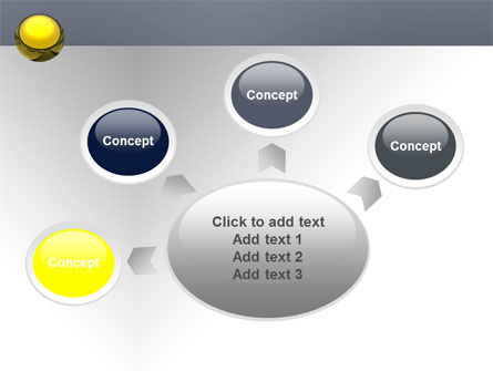 Yellow Ball PowerPoint Template Slide 7