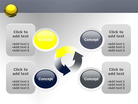 Yellow Ball PowerPoint Template Slide 9