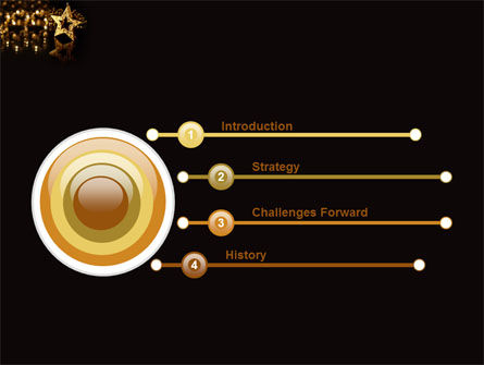 Gold Star PowerPoint Template, Slide 3, 03748, Holiday/Special Occasion — PoweredTemplate.com
