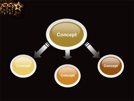 Gold Star PowerPoint Template, Slide 4, 03748, Holiday/Special Occasion — PoweredTemplate.com