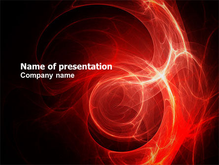 Abstract/Textures: Red Fantasy PowerPoint Template #03749