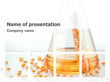 Corn Selection PowerPoint Template, 03750, Technology and Science — PoweredTemplate.com
