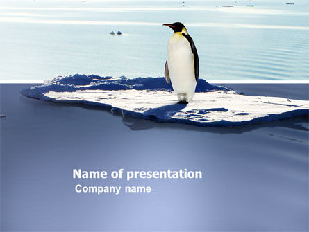 Animals and Pets: Penguin PowerPoint Template #03751
