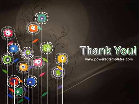 Stylized Flowers PowerPoint Template Slide 20