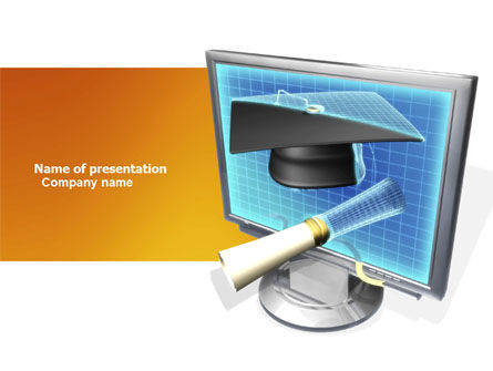 Long Range Education PowerPoint Template, 03754, Technology and Science — PoweredTemplate.com