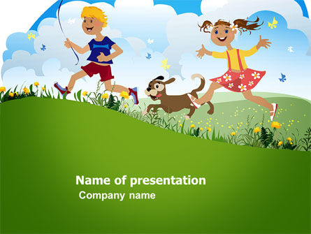 Education & Training: Happy Childhood PowerPoint Template #03756