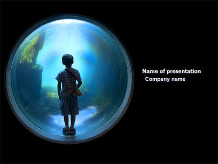 Education & Training: Public Aquarium PowerPoint Template #03758