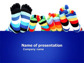 General: Rainbow Socks PowerPoint Template #03760