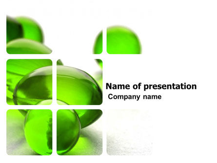 Health and Recreation: Green Balls PowerPoint Template #03761