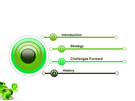 Green Balls PowerPoint Template, Slide 3, 03761, Health and Recreation — PoweredTemplate.com