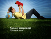 Education & Training: Reading Student PowerPoint Template #03762