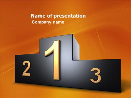 Winner Place PowerPoint Template, 03765, Business Concepts — PoweredTemplate.com