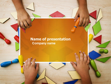 Mosaic PowerPoint Template, 03766, Education & Training — PoweredTemplate.com