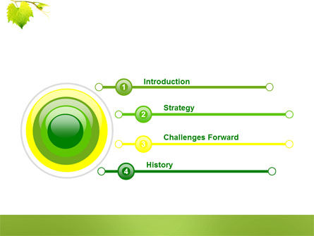 Green Flora PowerPoint Template Slide 3