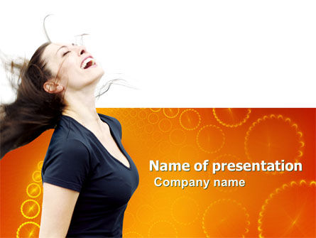 People: Beautiful Hair PowerPoint Template #03771