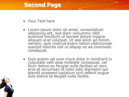 Beautiful Hair PowerPoint Template, Slide 2, 03771, People — PoweredTemplate.com