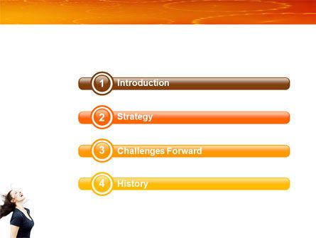 Beautiful Hair PowerPoint Template, Slide 3, 03771, People — PoweredTemplate.com