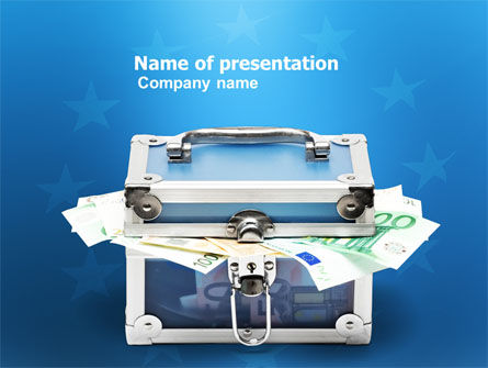 Financial/Accounting: European Banking PowerPoint Template #03772