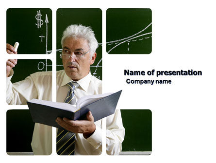 Education & Training: Lecturer PowerPoint Template #03774