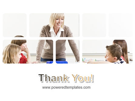 Teacher and Kids PowerPoint Template Slide 20