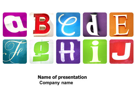 Education & Training: Alphabet Free PowerPoint Template #03779