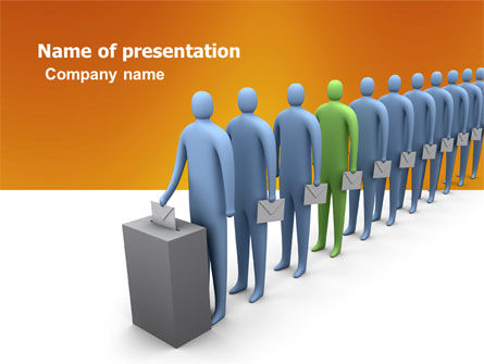 Right Of Voting PowerPoint Template, 03782, Holiday/Special Occasion — PoweredTemplate.com