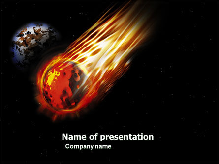 Comet Free PowerPoint Template, 03783, Technology and Science — PoweredTemplate.com