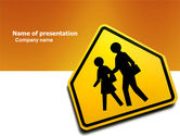 Education & Training: School Crossing PowerPoint Template #03784