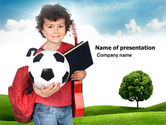 Education & Training: Schoolkids Summer Entertainment PowerPoint Template #03785