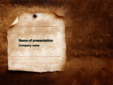 Old Paper Theme PowerPoint Template