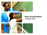 Education & Training: Basic Knowledge Teacher PowerPoint Template #03790