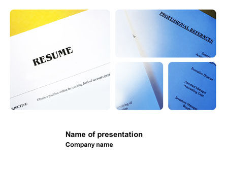 Careers/Industry: Resume PowerPoint Template #03791