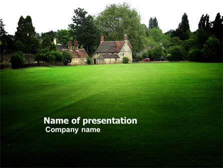 Construction: Country Estate PowerPoint Template #03792