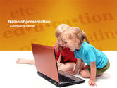 Education & Training: Long Distance Computer Education PowerPoint Template #03793