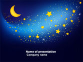 Abstract/Textures: Starry Night PowerPoint Template #03794