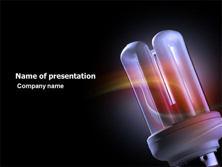 Technology and Science: Energy Saving PowerPoint Template #03796