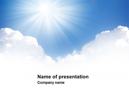 Heaven PowerPoint Template, 03799, Nature & Environment — PoweredTemplate.com