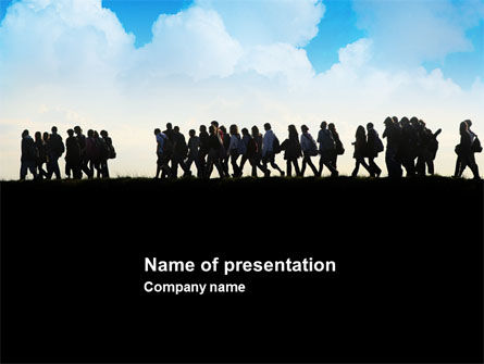 People: Hiking Tour PowerPoint Template #03800